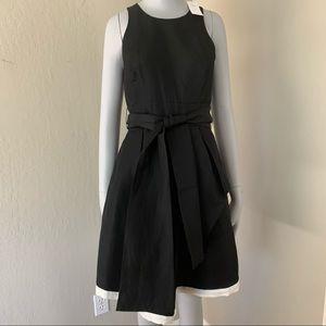 NWT BANANA REPUBLIC Black Linen Sleeveless Dress 0